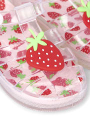 Girls Jelly Sandals - Strawberry Patch