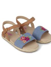 Girls Espadrille Sandals - Summer Safari
