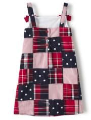 Girls Madras Shift Dress - American Cutie