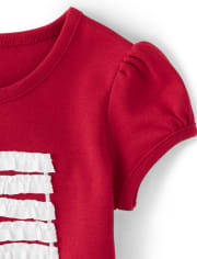 Girls Ruffle Flag Top - American Cutie