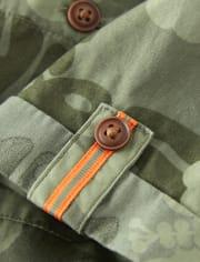 Boys Jungle Button Up Shirt - Summer Safari
