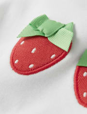 Girls Applique Top - Strawberry Patch