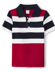 Gymboree American Cutie Boys Striped Polo T-Shirt