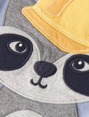 Boys Embroidered Raccoon 2 In 1 Top - Demolition Dude