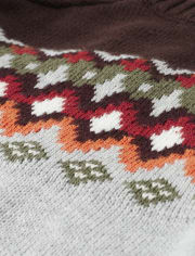Boys Fairisle Sweater - Harvest