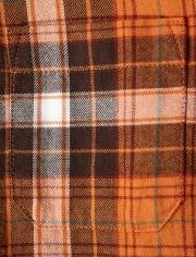 Boys Plaid Button Up Shirt - Harvest