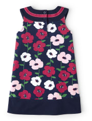 Girls Floral Ponte Dress - Preppy Puppy