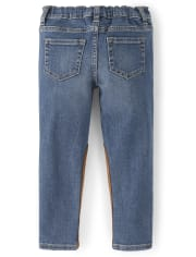 Girls Suede Pieced Jeans - Pony Club
