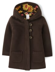 Girls Sunflower Quilted Jacket - Harvest