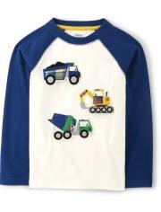 Boys Peek-A-Boo Trucks Top - Demolition Dude
