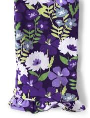 Girls Violet Ruffle Leggings - Whooo's Cute