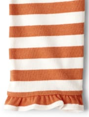 Girls Striped Ruffle Leggings - Lil' Pumpkin