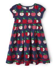 Girls Apple Ponte Dress - Candy Apple