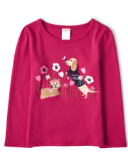 NWT Girls Gymboree Puppy Love dog /& snowflake lot of long sleeve shirts ~ 2T