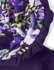 Girls Embroidered Violet Zip Up Hoodie - Whooo's Cute