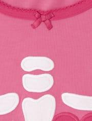 Womens Matching Family Skeleton Cotton 2-Piece Pajamas - Gymmies