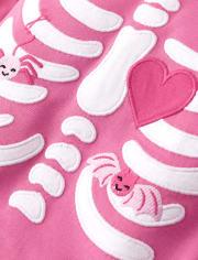 Girls Matching Family Skeleton Cotton 2-Piece Pajamas - Gymmies
