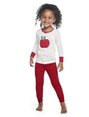 Girls Candy Apple Cotton 2-Piece Pajamas - Gymmies
