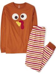 Unisex Adult Turkey Cotton 2-Piece Pajamas - Gymmies