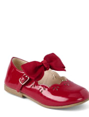Girls Removable Bow Ballet Flats - Picture Perfect