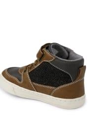 Boys Hi Top Sneakers - Aspen Lodge