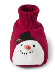 Unisex Girls And Boys Snowman Slippers - Gymmies