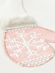 Girls Embroidered Mittens Top - Snow Princess