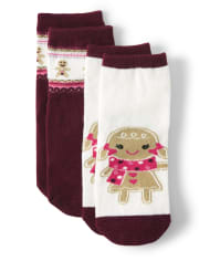 Girls Gingerbread Socks - Winter Wonderland