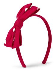 Girls Bow Headband - Valentine Cutie