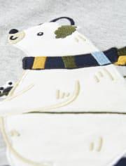 Boys Skiing Polar Bear Top - Aspen Lodge