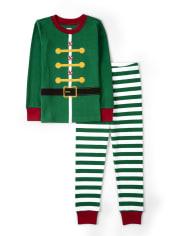Unisex Girls And Boys Elf Cotton 2-Piece Pajamas - Gymmies