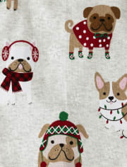 Boys Holiday Dog Cotton 2-Piece Pajamas - Gymmies