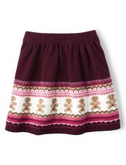 Girls Gingerbread Fairisle Sweater Skirt - Winter Wonderland