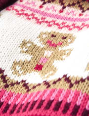Girls Gingerbread Fairisle Cardigan - Winter Wonderland
