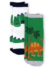 Boys Dino Crew Socks - Dino Roar