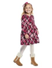 Girls Plaid Peasant Dress - Winter Wonderland