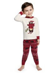 Boys Bear Cotton 2-Piece Pajamas - Gymmies