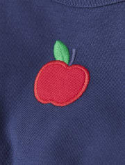 Girls Embroidered Apple Top - Every Day Play