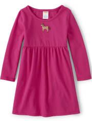 Girls Embroidered Pony Dress - Every Day Play