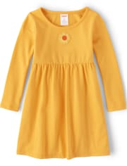 Girls Embroidered Sunflower Dress - Every Day Play