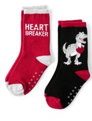 Boys Crew Socks - Valentine Cutie