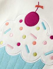 Girls Cupcake Cotton 2-Piece Pajamas - Gymmies