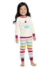 Girls Cupcake Cotton 2-Piece Pajamas - Gymmies