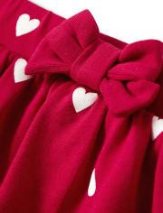 Girls Heart Tiered Skort - Valentine Cutie