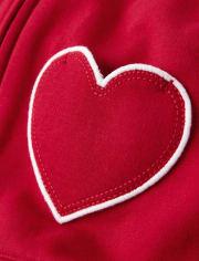 Girls Heart Zip Up Hoodie - Valentine Cutie