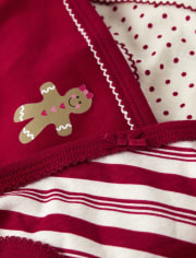 Girls Gingerbread Briefs 3-Pack
