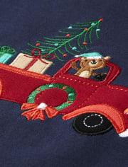 Boys Holiday Truck Cotton 2-Piece Pajamas - Gymmies