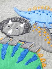 Boys Embroidered Top - Hello Dino