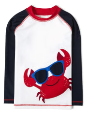 Boys Crab Rashguard - All Aboard