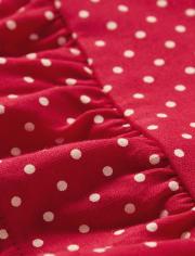 Girls Polka Dot Peplum Top - Little Ladybug